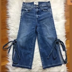 McGuire Tie Me Up high rise cropped jeans